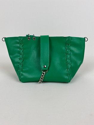 Le Mini M vert tressé