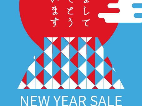 新年のご挨拶とNEW YEAR SALEのお知らせ