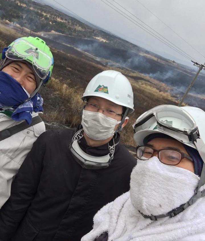 熊本市南倫理法人会野焼き参加2