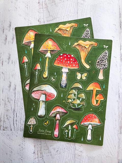 Mushroom Sticker Sheets