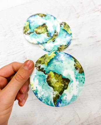 Earth Sticker