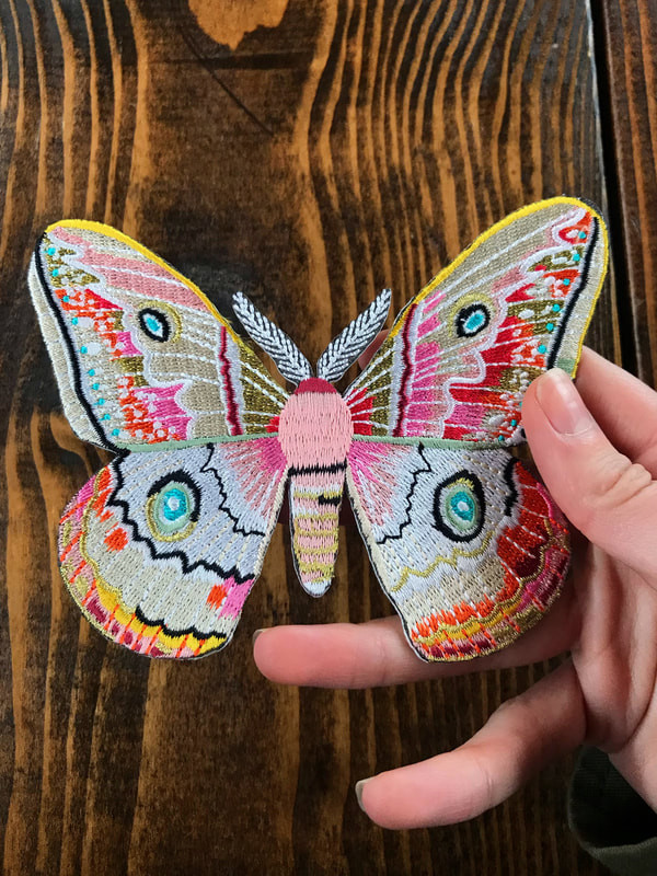 Embroidered Moth Patch