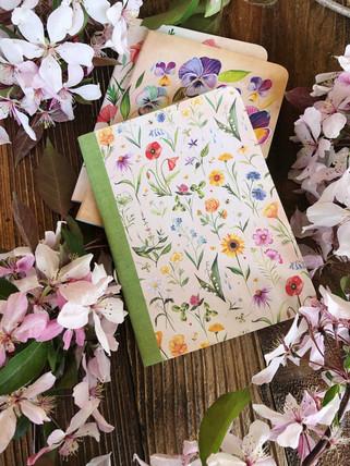 Floral Notebook Trio
