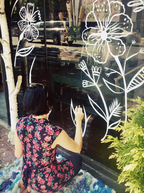 Window Painting Downtown Bend
