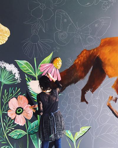 Mural at Foxtail Bakeshop