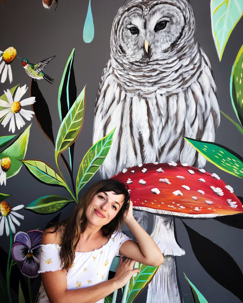 Collab. Mural at Foxtail Bakeshop