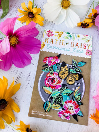 Floral Butterfly Patch