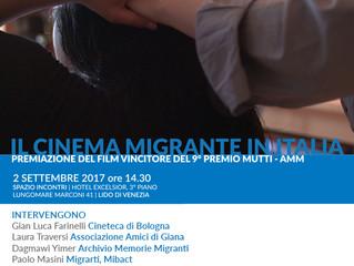 Il 2 settembre al Festival del Cinema di Venezia la premiazione del concorso Mutti - AMM