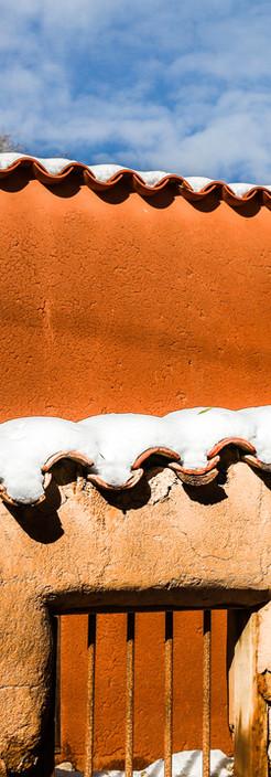 Santa Fe Snow on Adobe