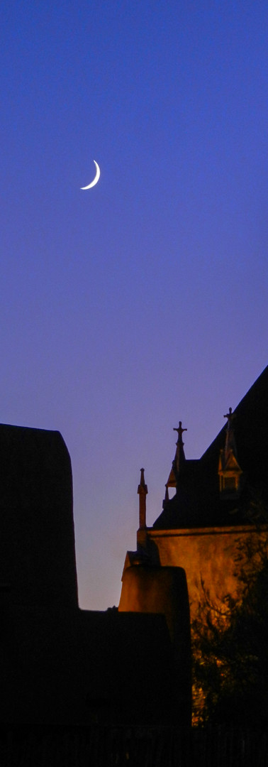 Moon Over Loretto Chapel