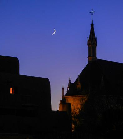 Moon Over Loretto Chapel - Brenton.jpg