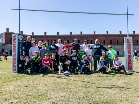 Youth Rugby Exhibition at Fort Adams