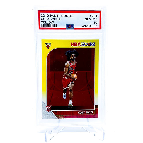 Coby White 2019-20 Hoops Yellow PSA 10 ROOKIE