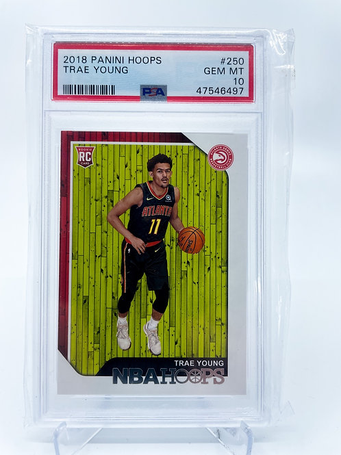 Trae Young ROOKIE hoops PSA 10