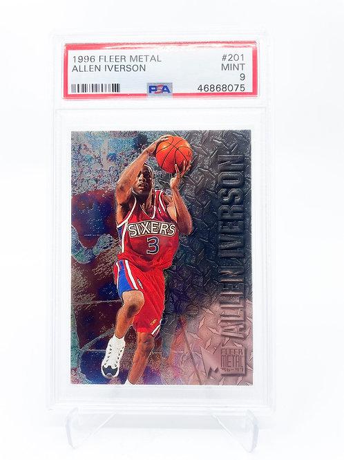 Allen Iverson 1996 FLEER METAL psa 9