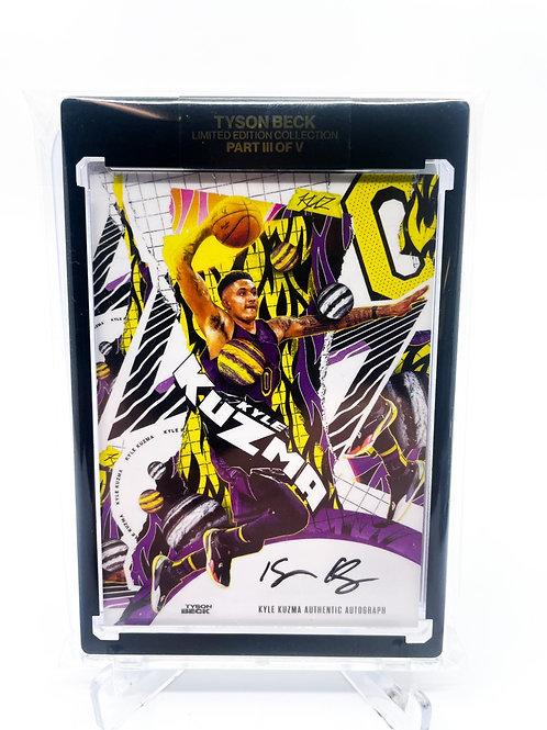 Kyle Kuzma/ Tyson Beck collaboration on card auto /25