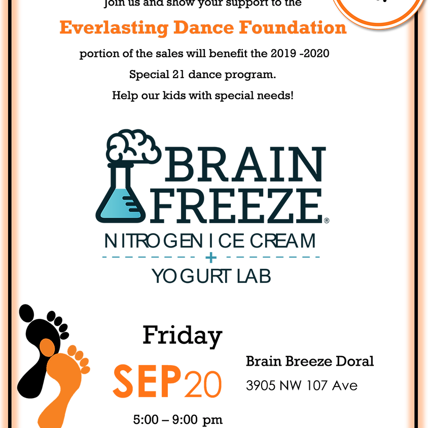 Fundraiser at Brain Freeze Doral