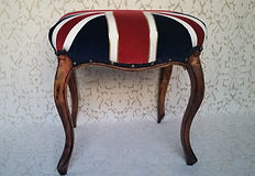 "Victorian Military stool for sale.  Major ""Margot"" Melchett."
