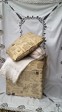 Re-covered cushions by Vintage Lives