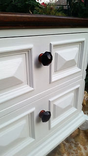 Bedside tables ruby knobs