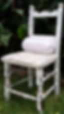 Re-finished and re-upholstered chair by Vintage Lives
