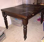 Victorian dining table before restoration