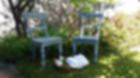 "French provincial chairs for sale Melbou.  Hand-painted.  ""BonJour""""Bonheur"" - ""Hello""""Happiness""ne"