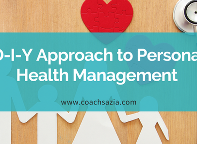 D-I-Y Approach To Personal Health Management