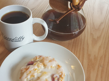 Pour over coffee and scone!