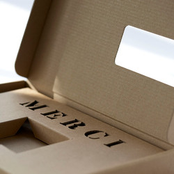 Mailingverpackung mit gestanzter Einlage, alles aus Wellkarton