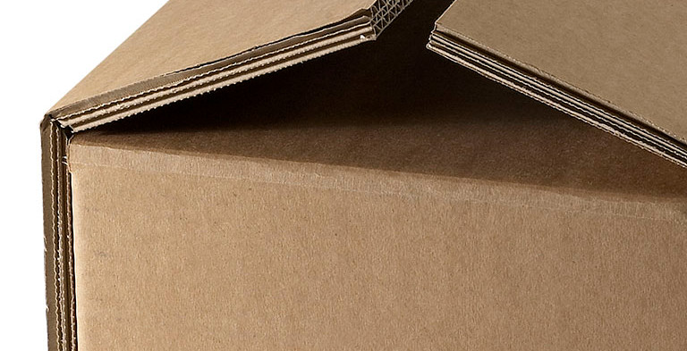 Faltbox aus 3 welligem Karton, extra stark