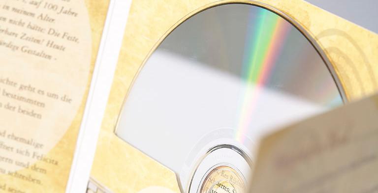 CD Hülle aus Karton, 6 seitig