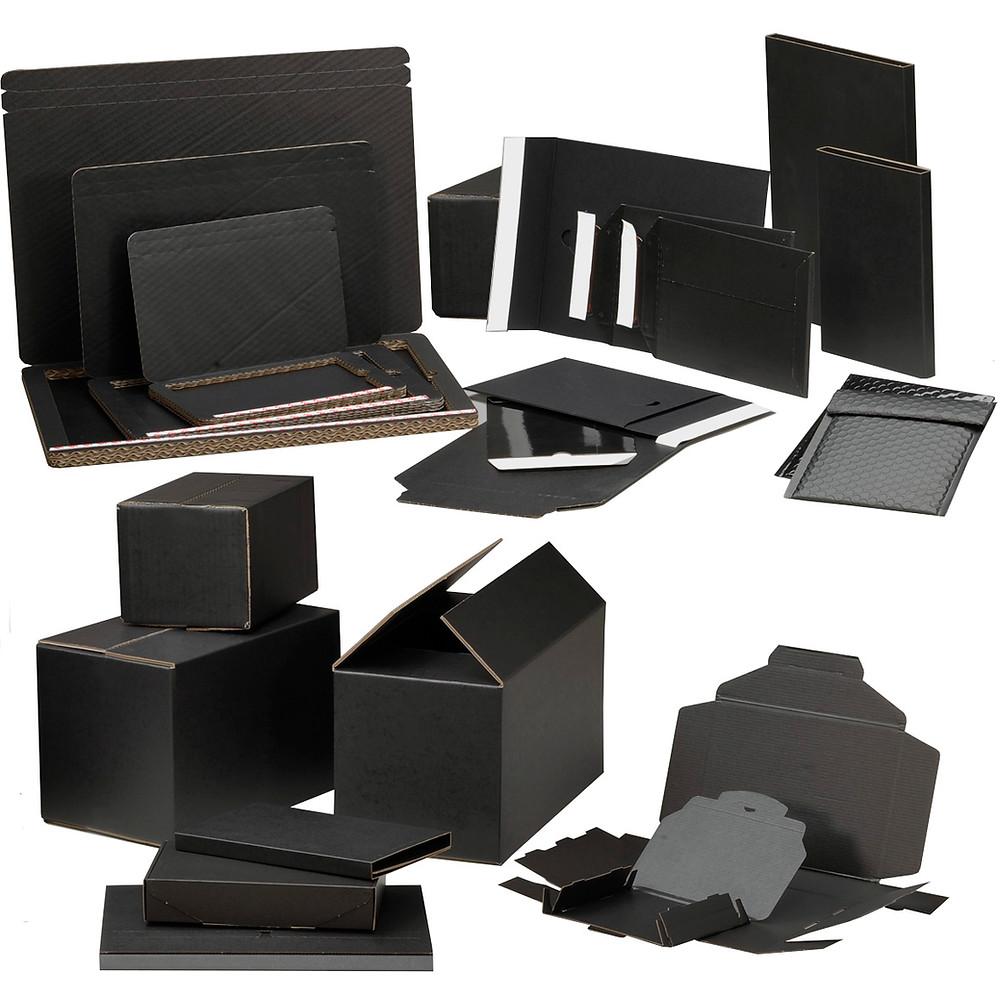 Standardverpackungen Wellkarton schwarz