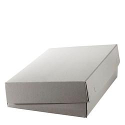 Kartonschachteln aus Graukarton geheftet