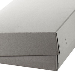 Schachtel mit separatem Deckel aus Graukarton