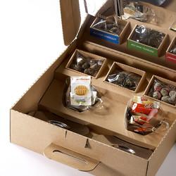 Geschenkkoffer aus Wellkarton, Kundengeschenke, Firmengeschenk