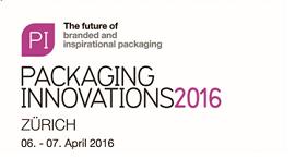 GRATISeintritt für die Packaging Innovations am 6.-7. April 2016 in Zürich