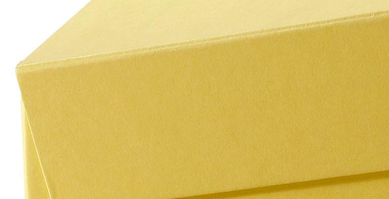 Überzogene  Klappdeckelschachtel mit anscharniertem Deckel