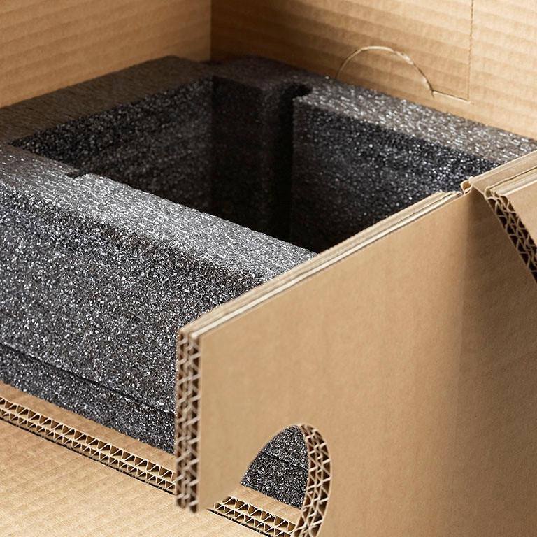 Transportverpackung mit Schaumstoffeinlage