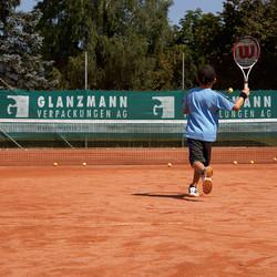 Sponsoring Glanzmann Verpackungen AG, Tenniscenter Scheuren