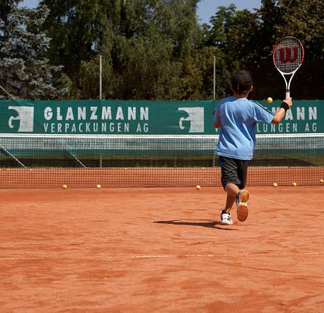 Tenniscenter Scheuren, Sponsoring Glanzmann Verpackungen AG