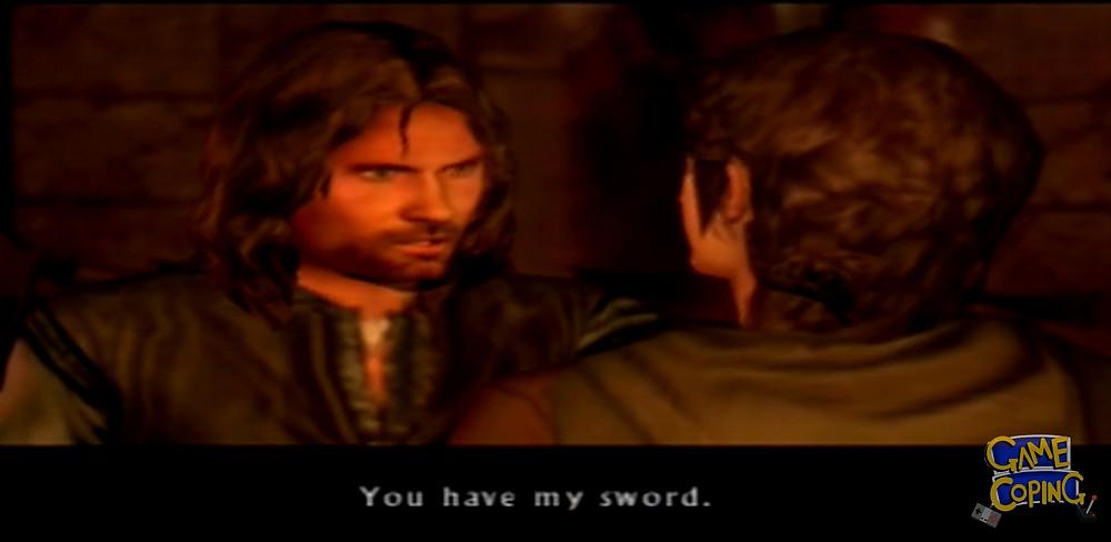 Aragorn's cutscene character model looking... sharp