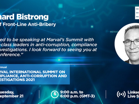Join me at Marval's 4th Annual Summit on Compliance, Anti-Corruption, and Investigations.