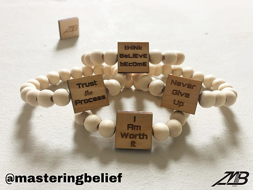 Affirmation Engraved Bracelets (Wooden)