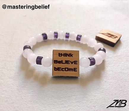 tHiNk BeLiEvE bEcOmE Rose Quartz Beaded Bracelet