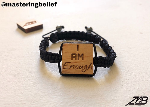 I AM Enough Me (Black Adjustables)