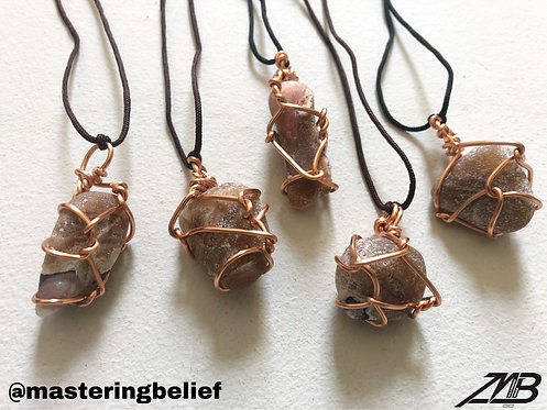 Wired Fluorite Necklaces