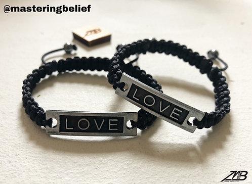 LOVE Plated Adjustable Bracelet