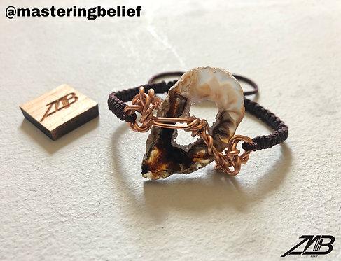 Agate Slice Adjustable Bracelets