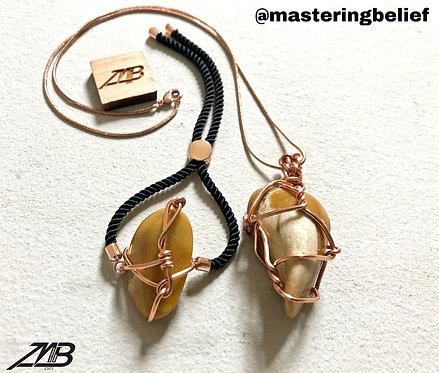 Yellow Aventurine Bracelet & Necklace Set